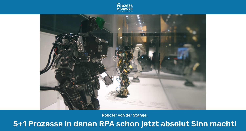 RPA: Wann machen Roboter von der Stange Sinn?