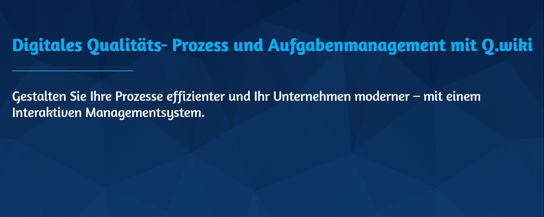 Q.wiki – Software für Interaktive Managementsysteme