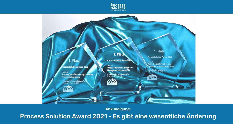 WER GEWINNT DEN PROCESS SOLUTION AWARD 2021?