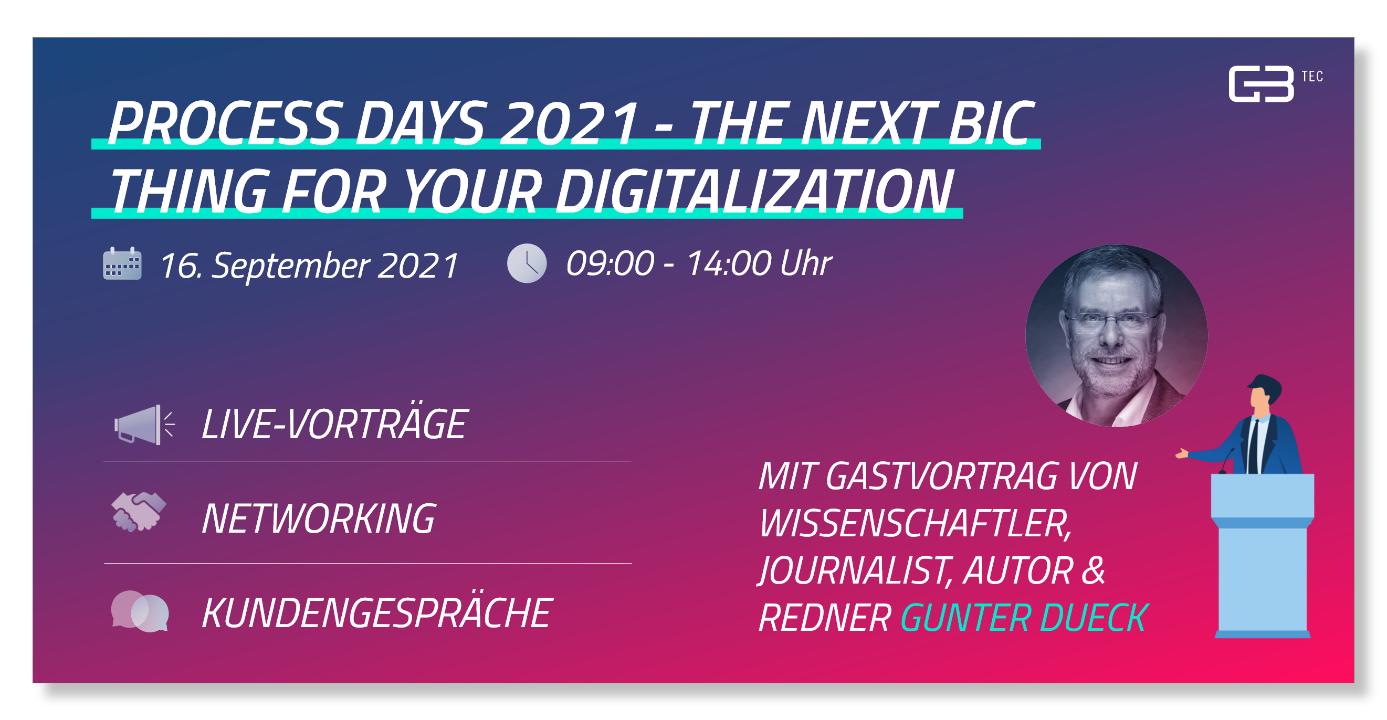 Process Day 2021 von GBTEC erneut 100 Prozent Digital
